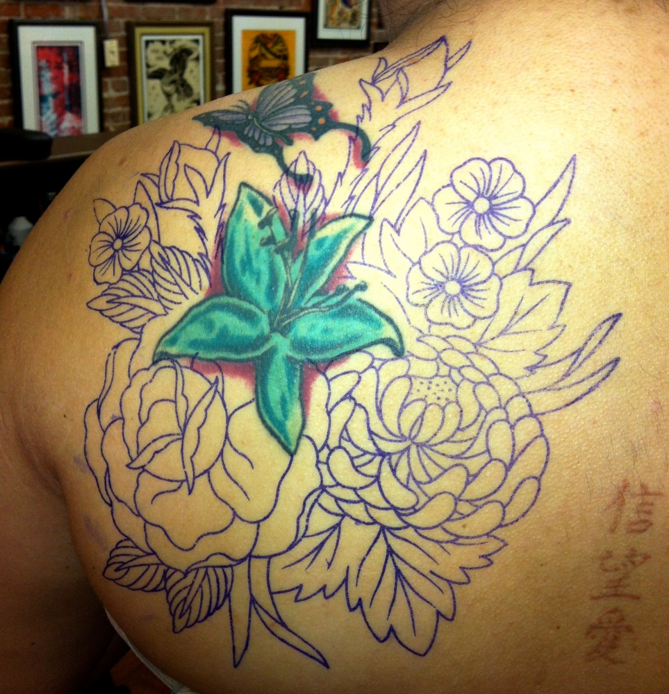 Family Bouquet Tattoo (1/5)