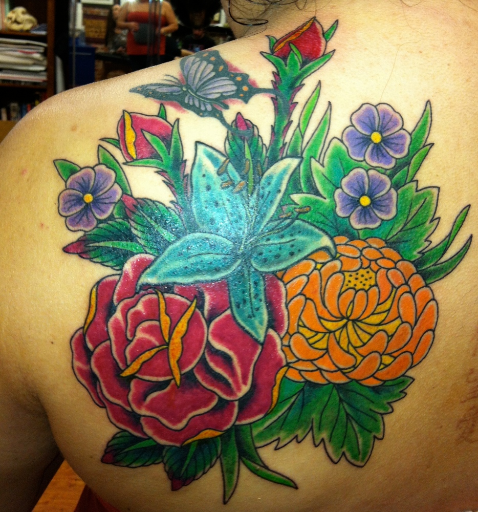 Family Bouquet Tattoo (5/5)
